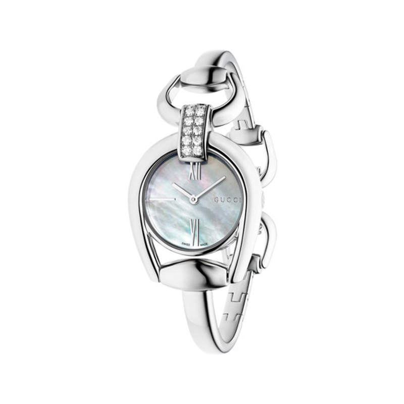 Orologio Gucci  Horsebit Donna Small con diamanti