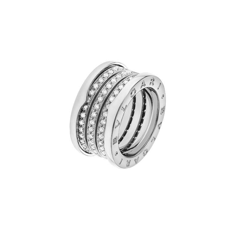 gioielliDonnaAnello Donna Bulgari B.zero1 oro bianco 4 fasce diamante