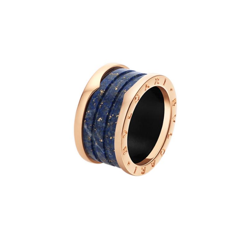 gioielliDonnaAnello Donna Bulgari B.zero1 marmo blu