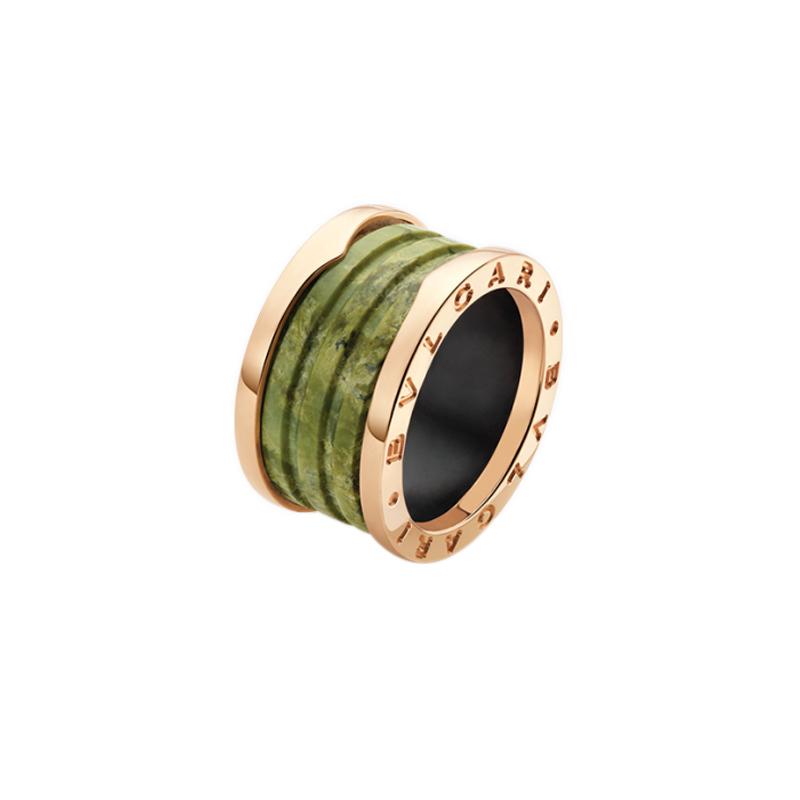 gioielliDonnaAnello Donna Bulgari B.zero1 marmo verde