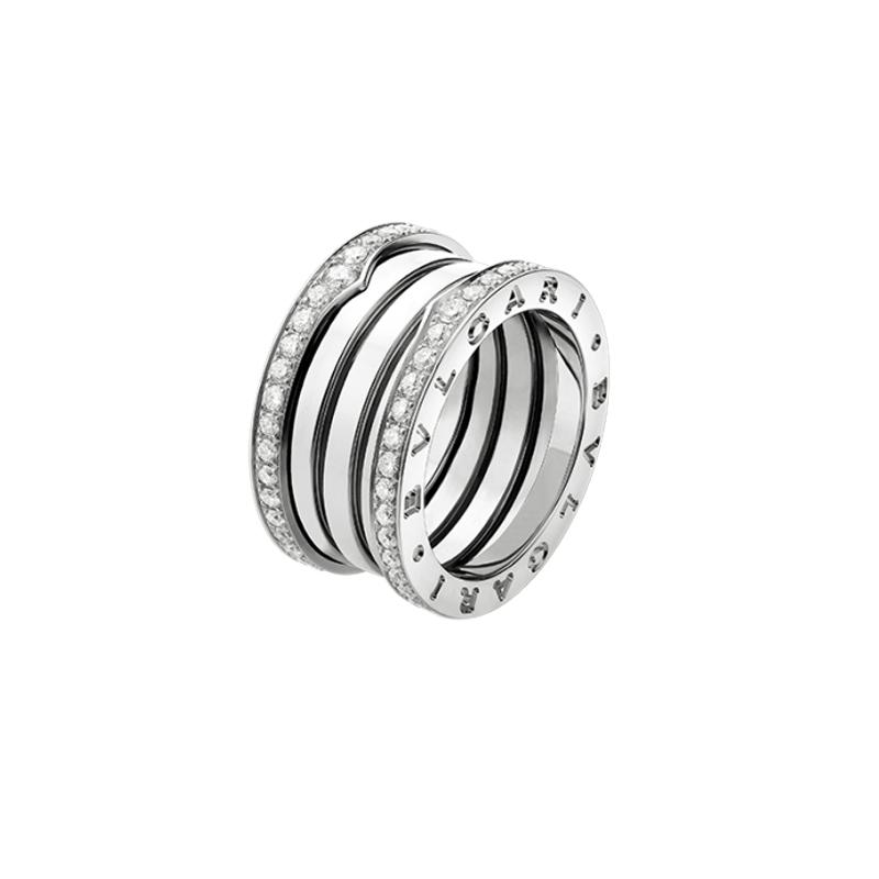 gioielliDonnaAnello Donna Bulgari B.zero1 4 fasce oro bianco diamante
