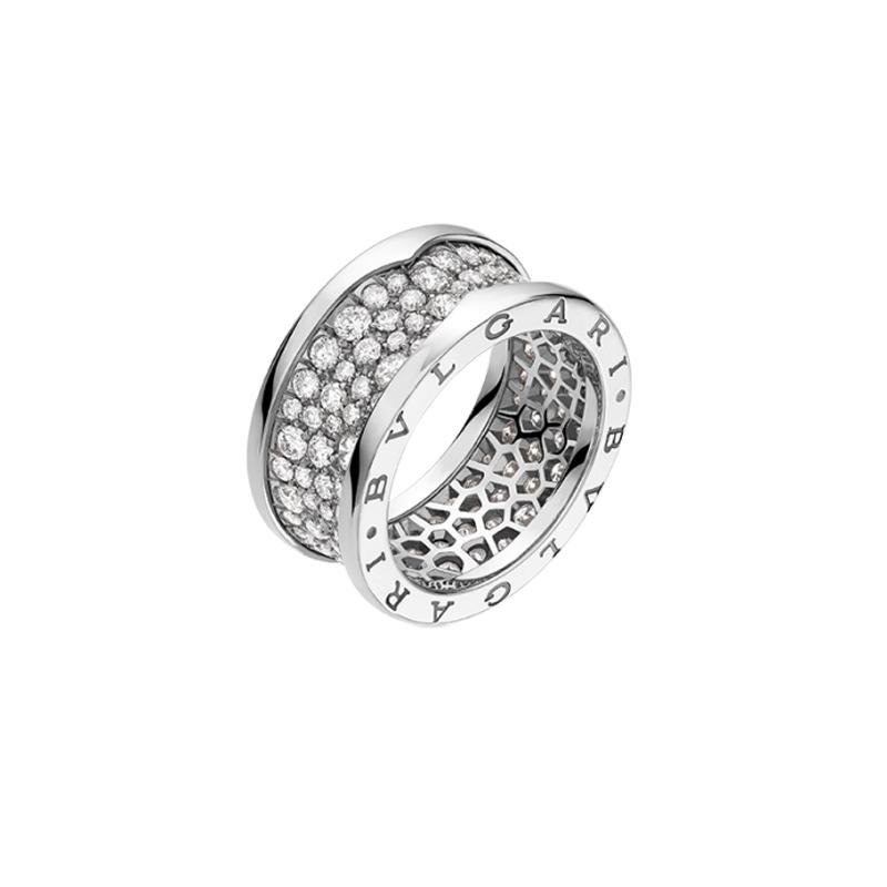 gioielliDonnaAnello Donna Bulgari B.zero1 oro bianco con diamanti