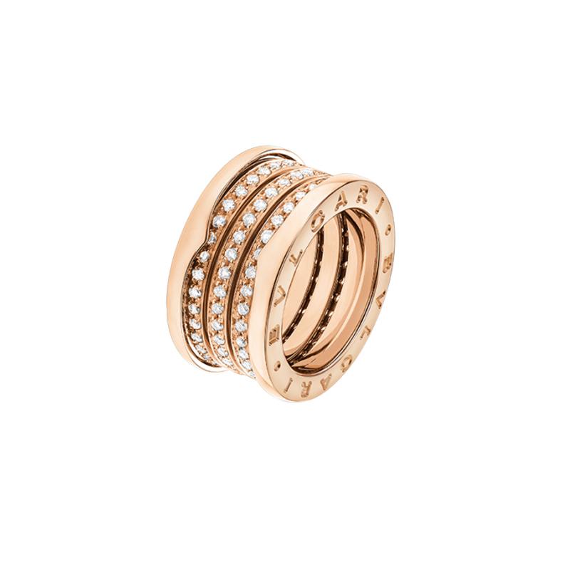 gioielliDonnaAnello Donna Bulgari B.zero1 oro rosa 4 fasce diamante