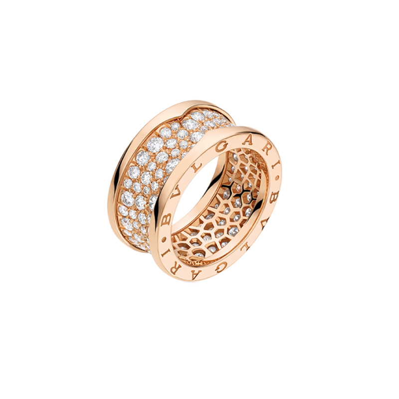 gioielliDonnaAnello Donna Bulgari B.zero1 oro rosa diamante
