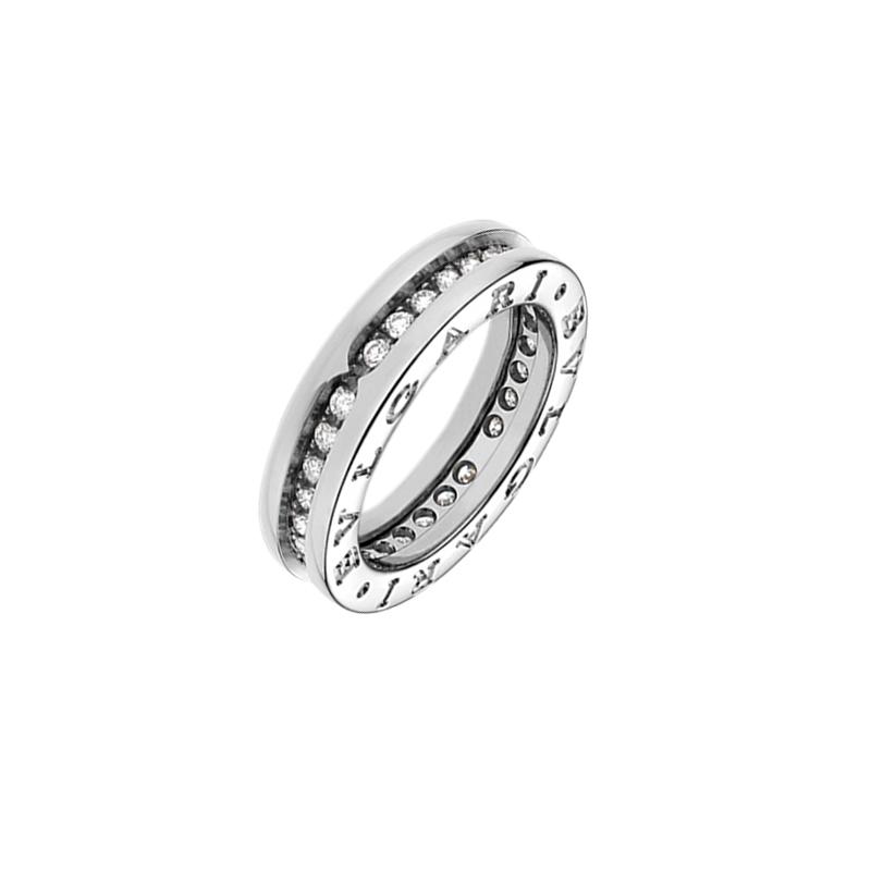gioielliDonnaAnello Donna Bulgari B.zero1 una fascia oro bianco diamante