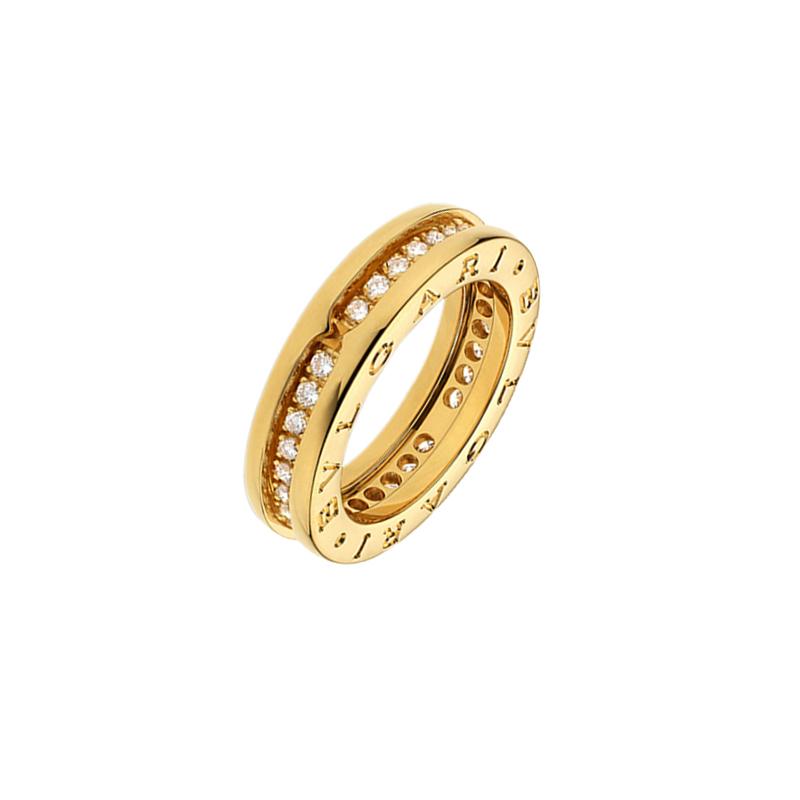 gioielliDonnaAnello Donna Bulgari B.zero1 una fascia oro giallo diamante