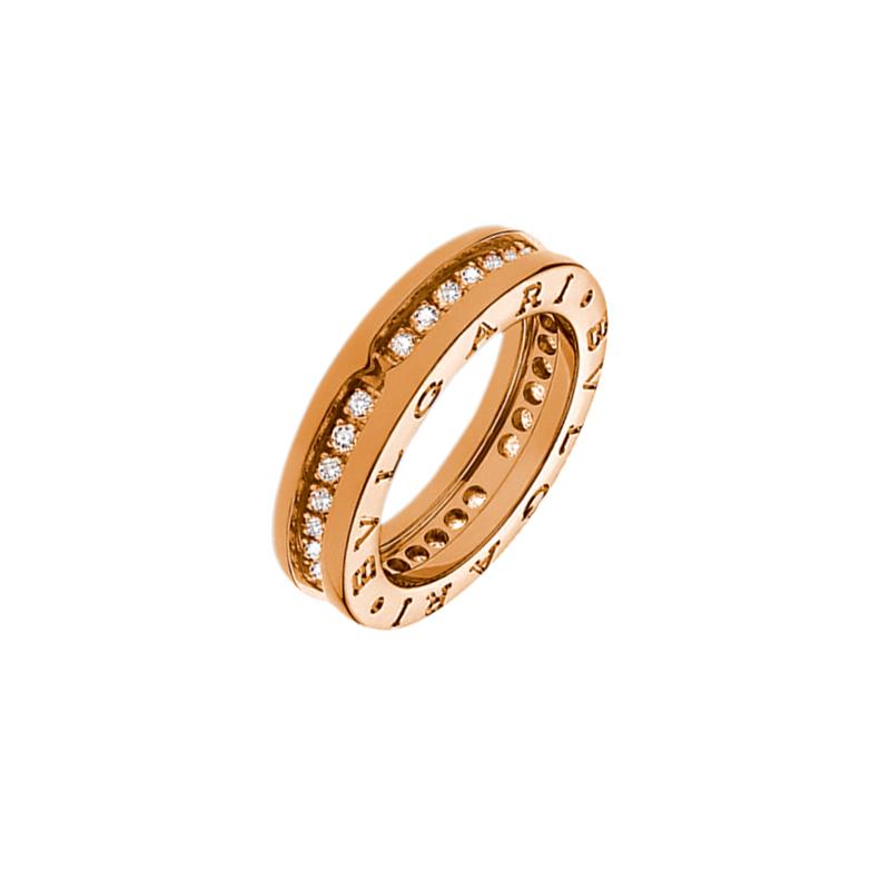 gioielliDonnaAnello Donna Bulgari B.zero1 una fascia oro rosa diamante