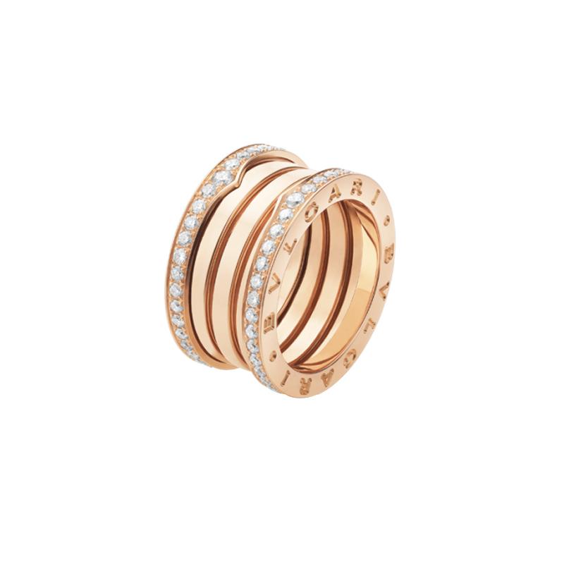 gioielliDonnaAnello Donna Bulgari B.zero1 4 fasce oro rosa diamante