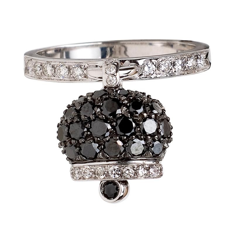 gioielliDonnaAnello Donna Chantecler Campanelle diamante nero