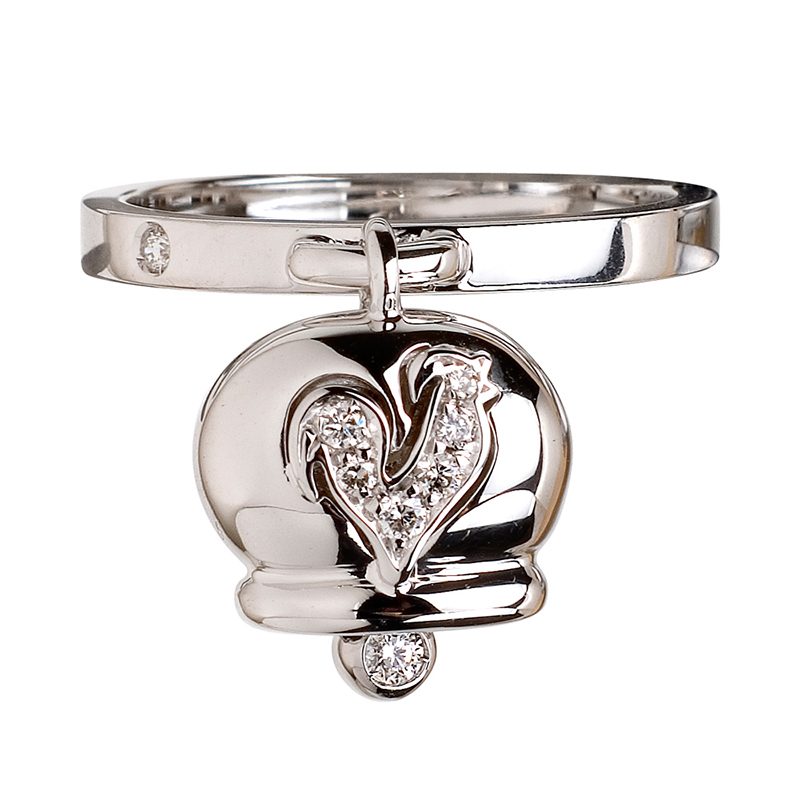 gioielliDonnaAnello Donna Chantecler Campanelle oro bianco diamante