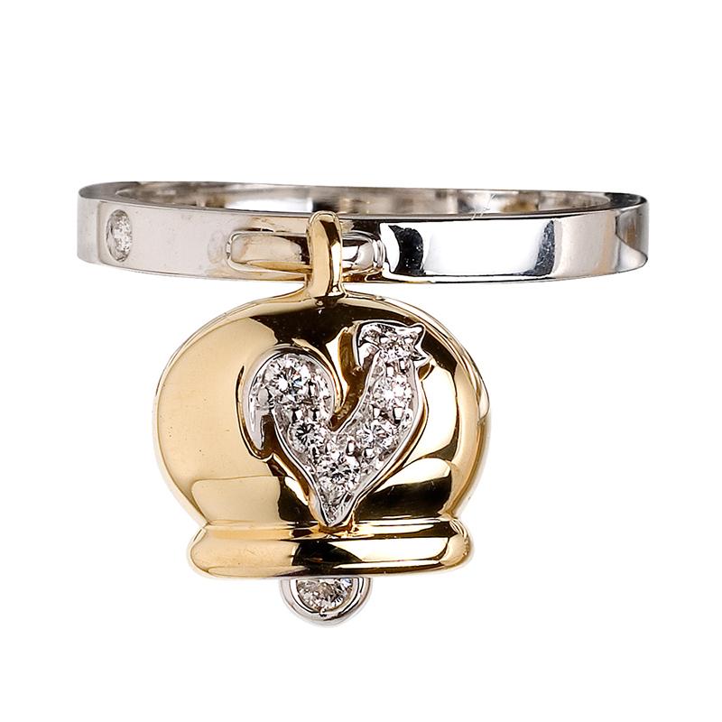 gioielliDonnaAnello Donna Chantecler Campanelle oro giallo diamante