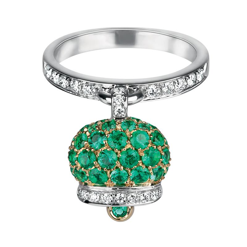 gioielliDonnaAnello Donna Chantecler Campanelle smeraldi