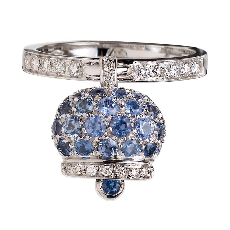 gioielliDonnaAnello Donna Chantecler Campanelle zaffiri azzurri