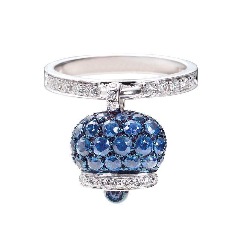 gioielliDonnaAnello Donna Chantecler Campanelle zaffiri blu