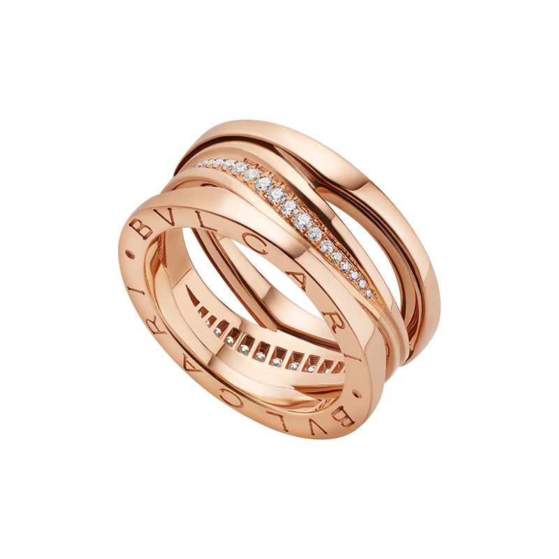Anello Donna Bulgari B.zero1 Design Legend oro rosa diamante
