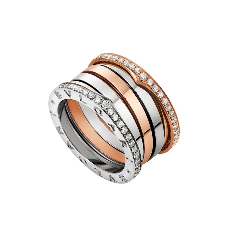 gioielliDonnaAnello Donna Bulgari B.zero1 oro diamante