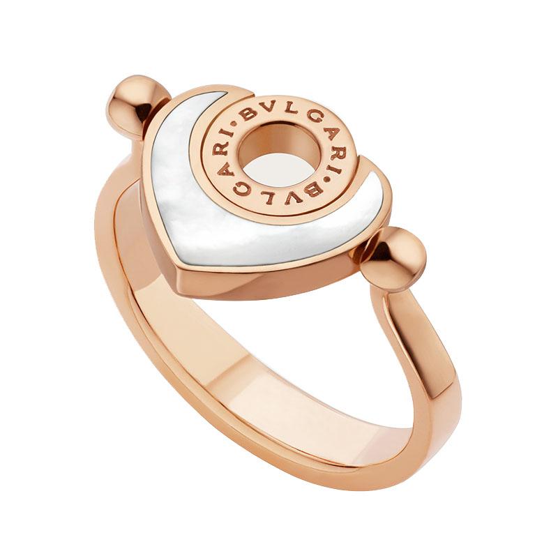 gioielliDonnaAnello Donna Bulgari-Bulgari Cuore oro rosa madreperla