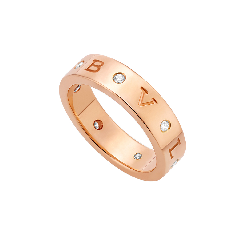 gioielliDonnaAnello donna Bulgari - Bulgari oro rosa 7 diamanti