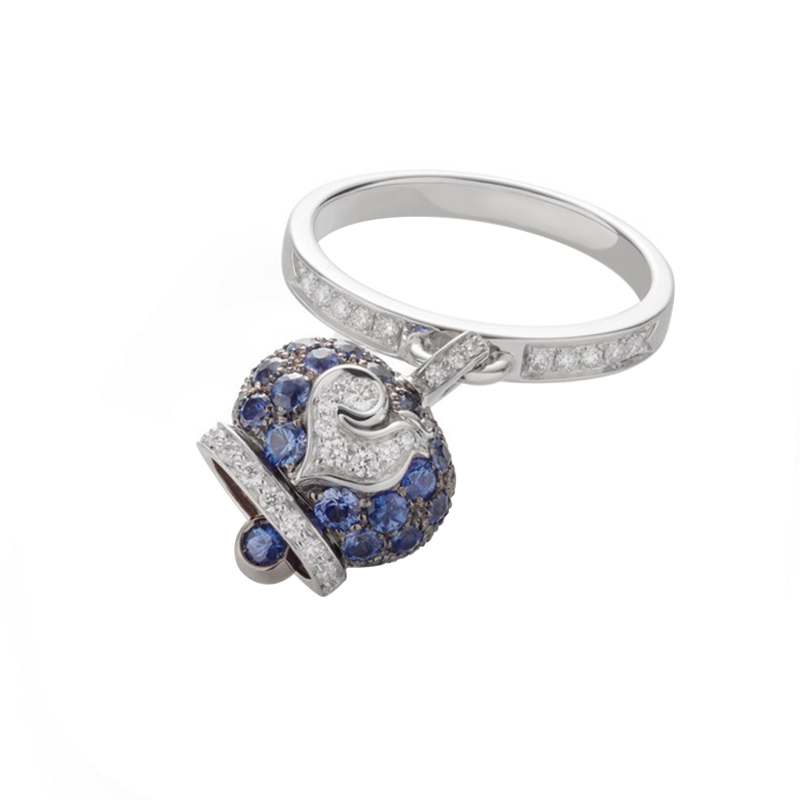 gioielliDonnaAnello Donna Chantecler Campanelle zaffiro blu diamante