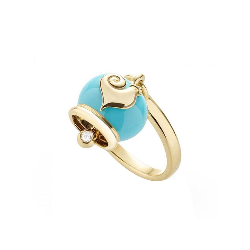 gioielliDonnaAnello Donna Chantecler Campanelle micro azzurro
