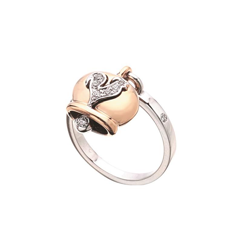 gioielliDonnaAnello Donna Chantecler Campanelle oro diamante
