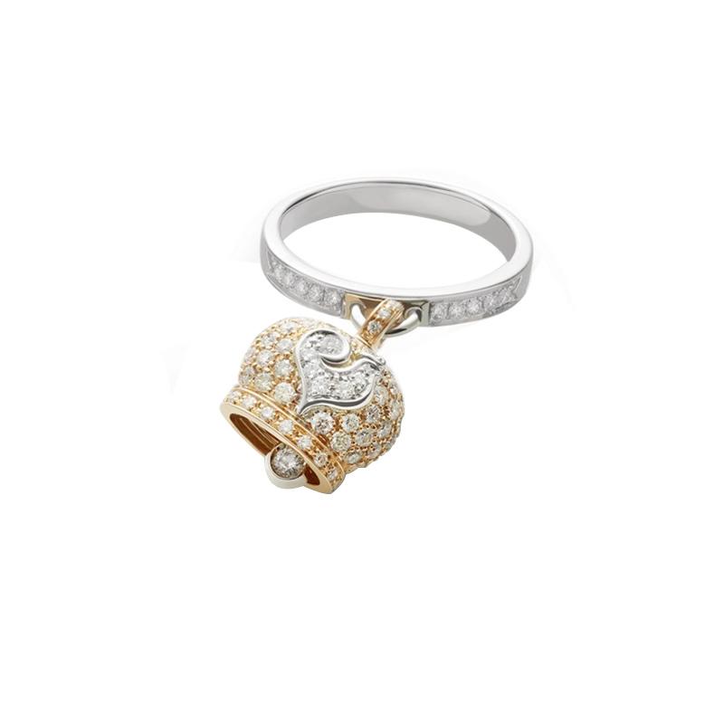 gioielliDonnaAnello Donna Chantecler Campanelle oro rosa diamante