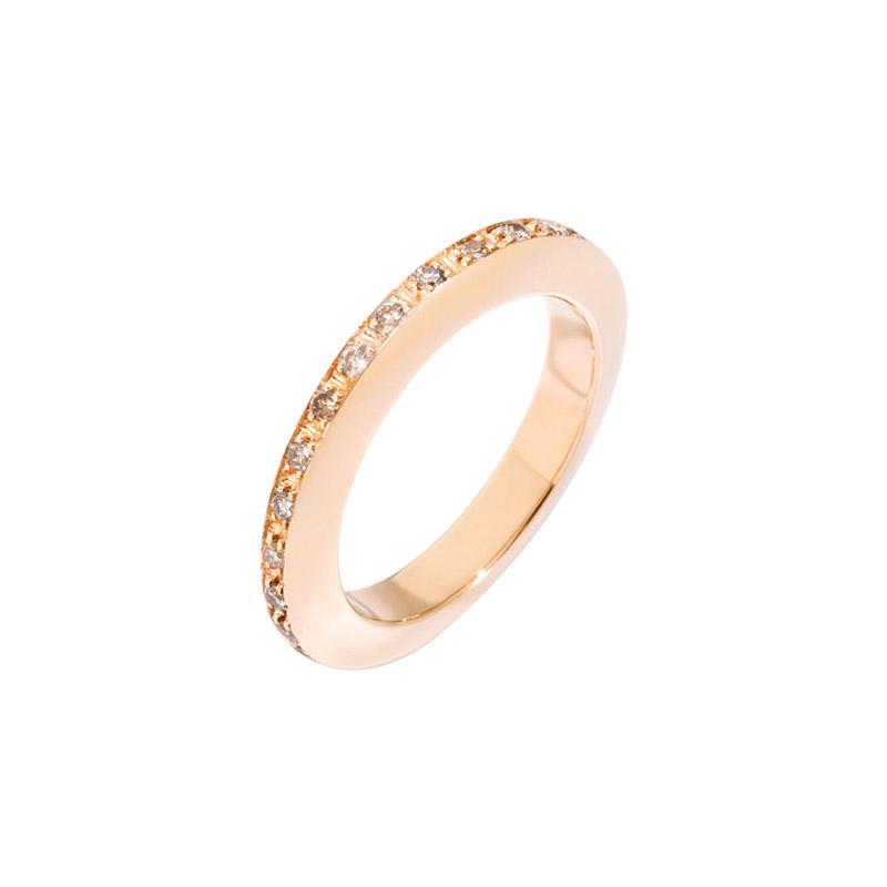 gioielliDonnaAnello Donna Dodo Disc oro rosa diamante