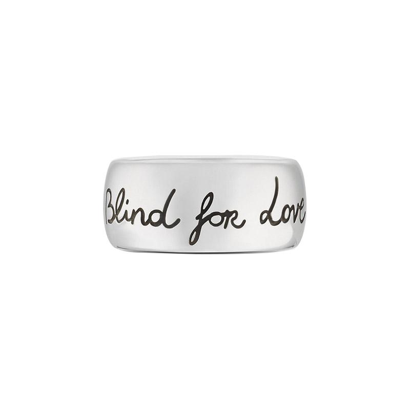 gioielliDonnaAnello Donna Gucci Blind for Love argento 9mm