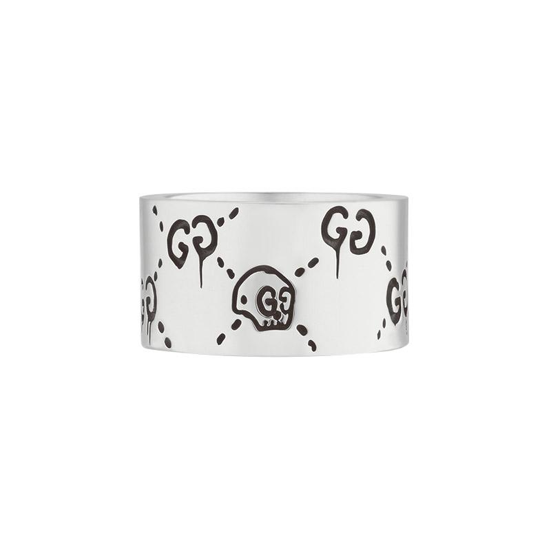 gioielliUomoAnello Uomo Gucci Ghost argento 12mm