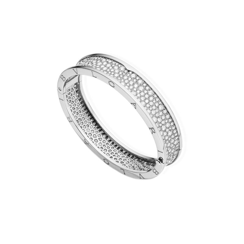gioielliDonnaBracciale Donna Bulgari B.zero1 oro bianco rigido diamante
