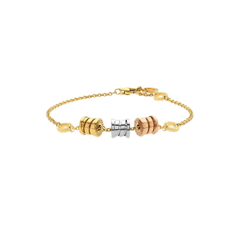 gioielliDonnaBracciale Donna Bulgari B.zero1 oro giallo bianco e rosa