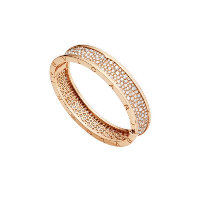 gioielliDonnaBracciale Donna Bulgari B.zero1 oro rosa rigido diamante
