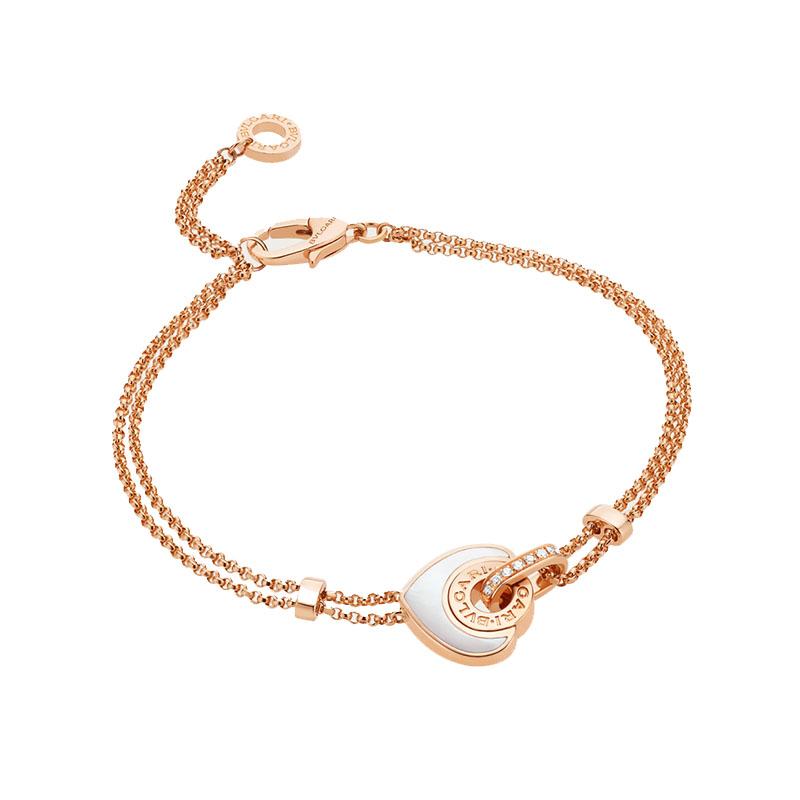 gioielliDonnaBracciale Donna Bulgari-Bulgari Cuore oro rosa madreperla