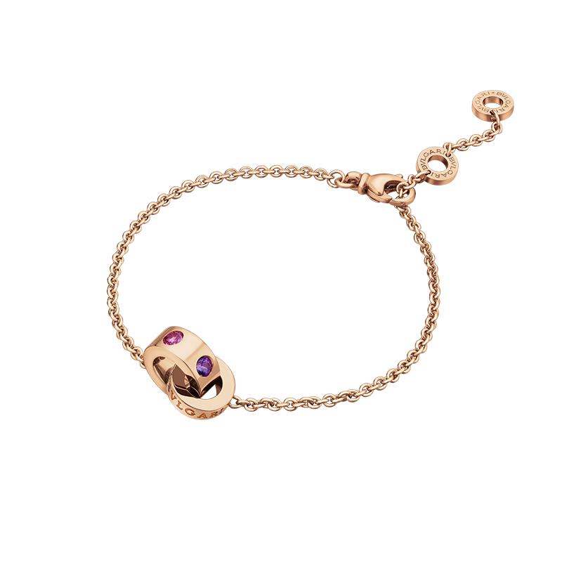 gioielliDonnaBracciale Donna Bulgari-Bulgari oro rosa ametiste