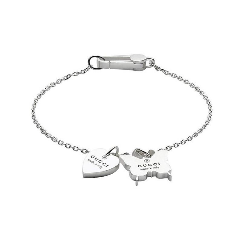 gioielliDonnaBracciale Donna Gucci Trademark cuore farfalla