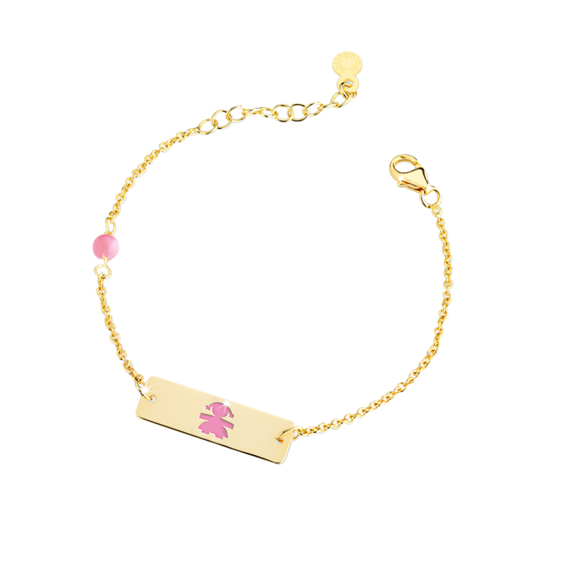 gioielliDonnaBracciale Le Bebé Classici bimba smalto rosa