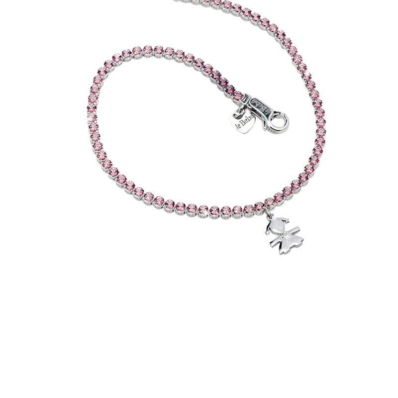 gioielliDonnaBracciale Le Bebé Tennis topazio rosa
