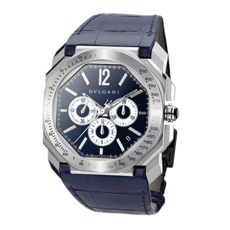 orologiUomoOrologio Bulgari Octo Velocissimo Maserati acciaio blu