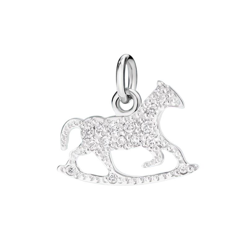 gioielliDonnaCharm Donna Dodo Cavallo a dondolo diamante