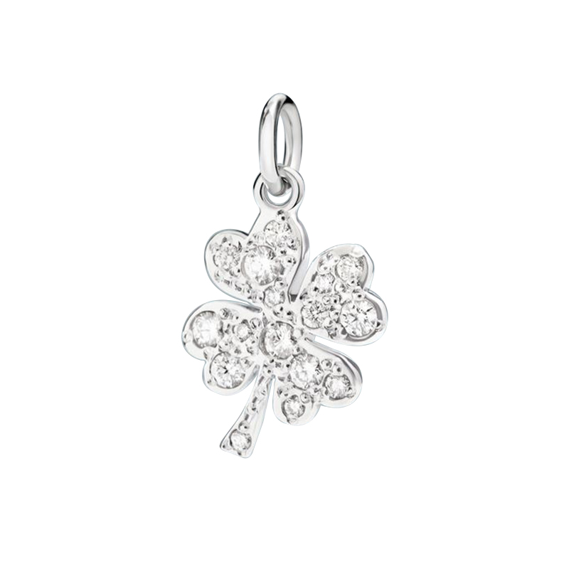 gioielliDonnaCharm Donna Dodo Quadrifoglio diamante