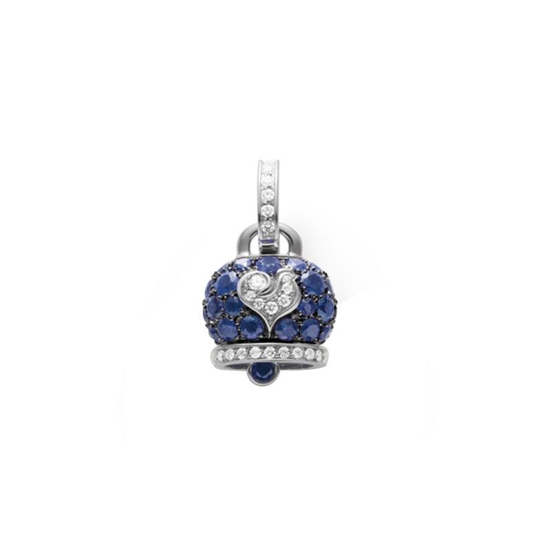 gioielliDonnaCiondolo Donna Chantecler Campanella medio zaffiro blu diamante