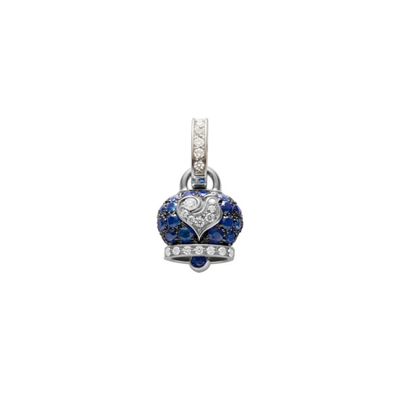 gioielliDonnaCiondolo Donna Chantecler Campanella piccolo zaffiro blu diamante