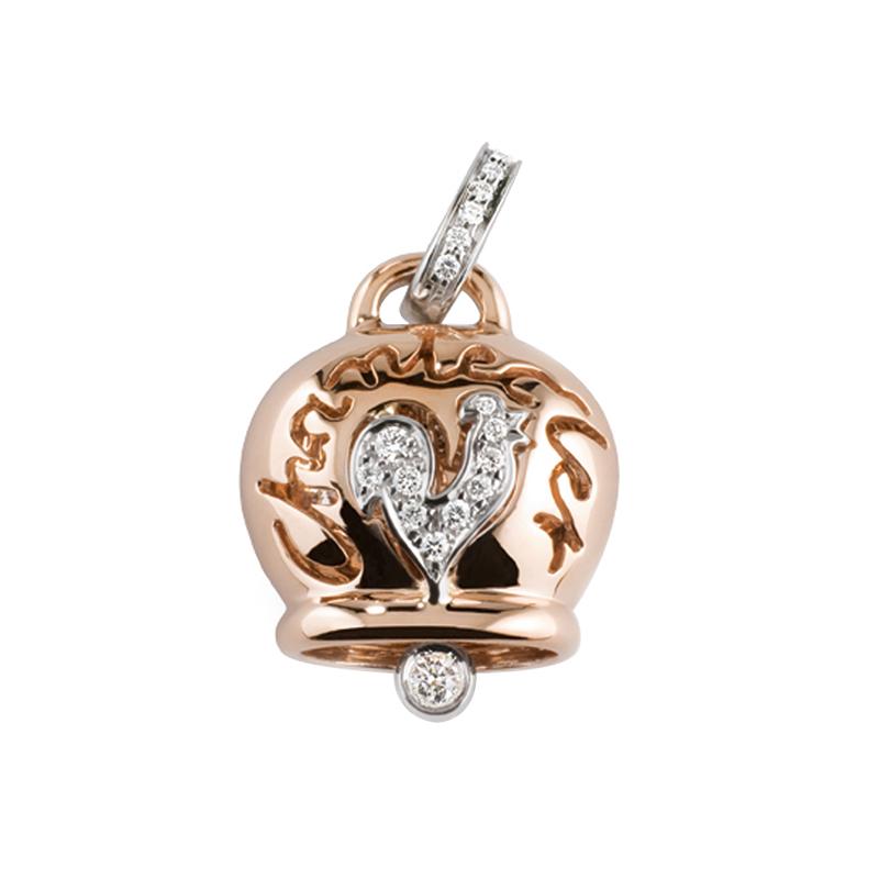 gioielliDonnaCiondolo Donna Chantecler Campanelle grande oro diamante