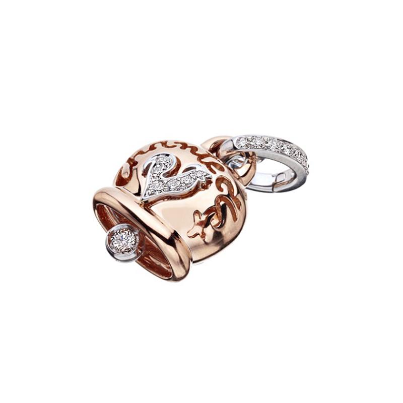 gioielliDonnaCiondolo Donna Chantecler Campanelle medio oro diamante