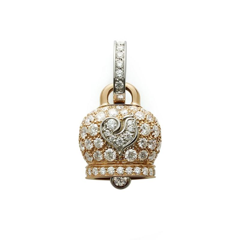 gioielliDonnaCiondolo Donna Chantecler Campanelle medio oro rosa diamante