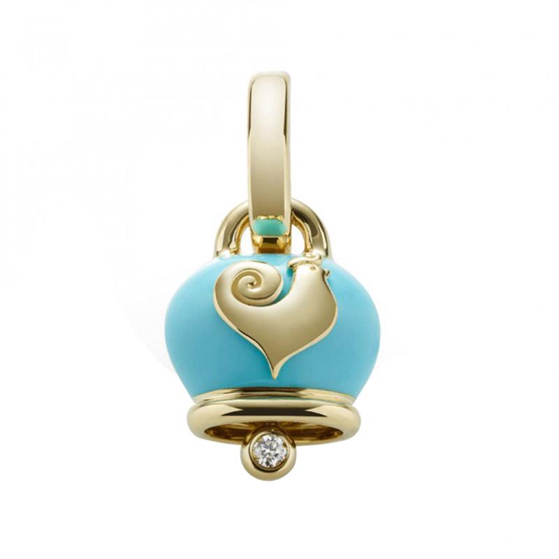 gioielliDonnaCiondolo Donna Chantecler Campanelle micro azzurro