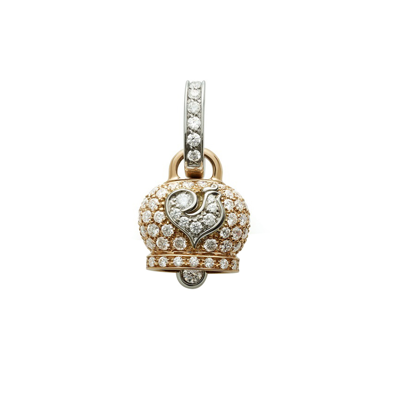 gioielliDonnaCiondolo Donna Chantecler Campanelle piccolo oro rosa diamante