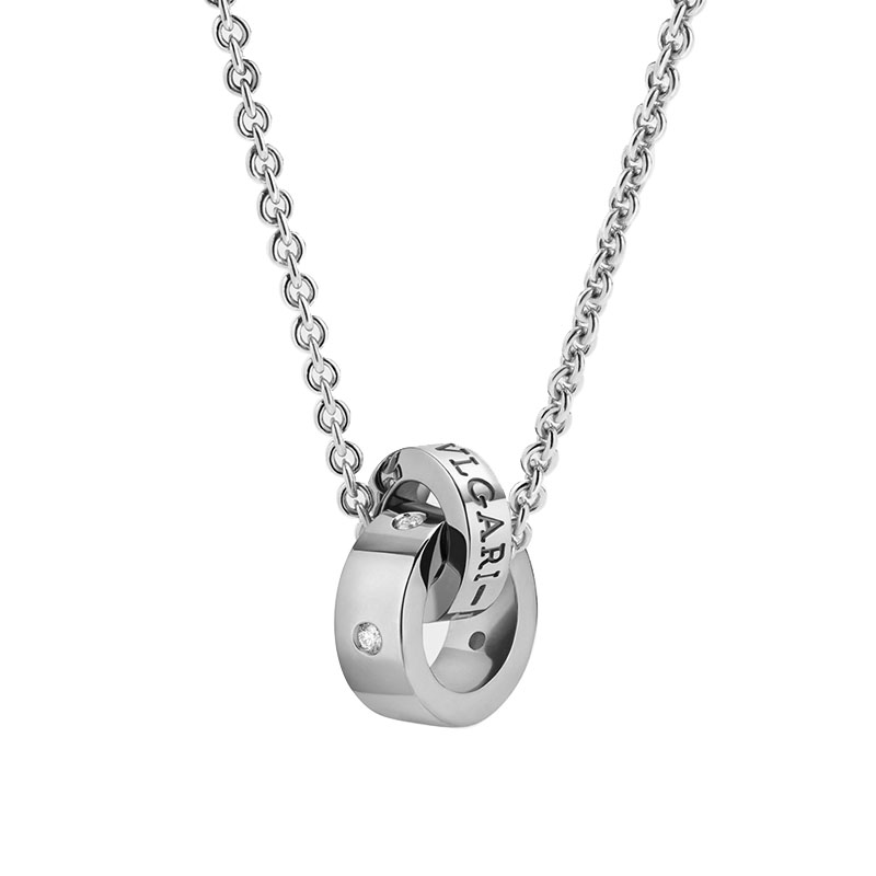 gioielliDonnaCollana Donna Bulgari-Bulgari oro bianco 5 diamanti