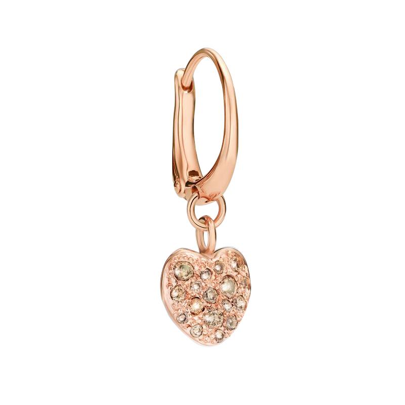 orologiDonnaOrecchini Donna Dodo Cuore oro rosa diamanti (coppia)