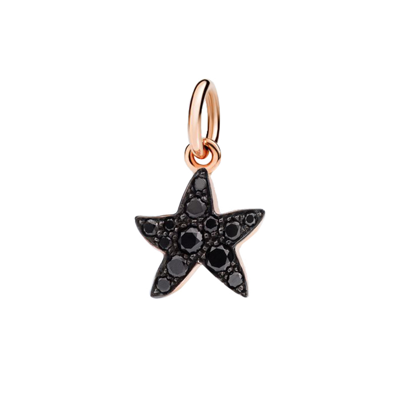 gioielliDonnaCharm Donna Dodo Stella marina diamante nero